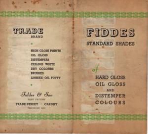 Fiddes Paint Colour Card